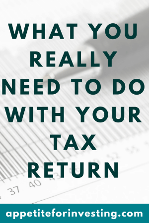 Here's What You Need to do With Your Tax Return